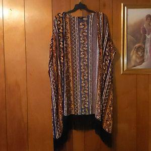 Rue21 Fringe Kimono